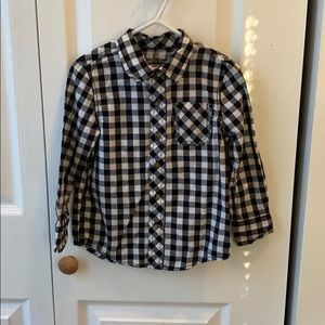 Button down long sleeve shirt. Okie dokie. 3T
